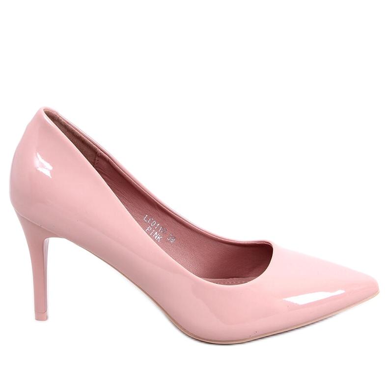 Czółenka na szpilce różowe LE011P-ST Pink