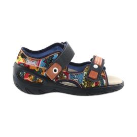 Befado obuwie dziecięce sandałki 065P117 wielokolorowe