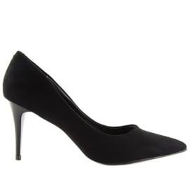 Klasyczne szpilki damskie czarne 66-12 Black