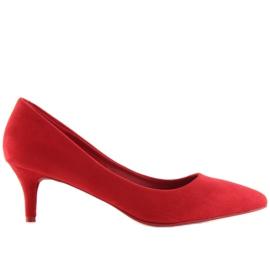 Czółenka na niskiej szpilce czerwone 66-69 Red