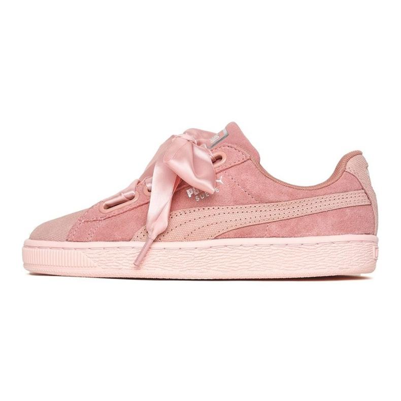 Różowe Buty Puma Suede Heart Pebble W 365210 01