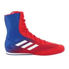 Buty bokserskie adidas Box Hog Plus niebiesko-czerwone