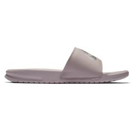 Szare Klapki Nike Benassi Just Do It W 343881-614