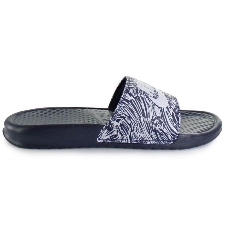 Klapki Nike Benassi Just Do It Print 631261-403 czarne