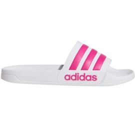 Klapki adidas Adilette Shower F34914 białe różowe