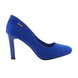 Sergio Leone Czółenka zamszowe 1457 niebieskie
