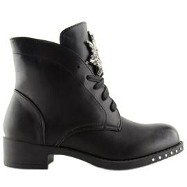 Workery damskie czarne 100-902BO-1 Black