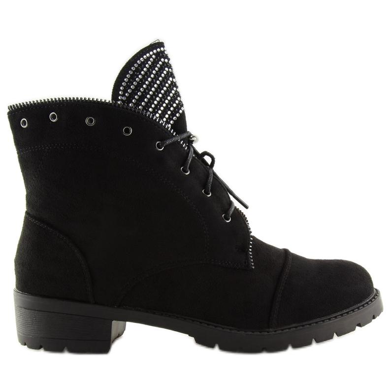 Workery damskie czarne GF055 Black