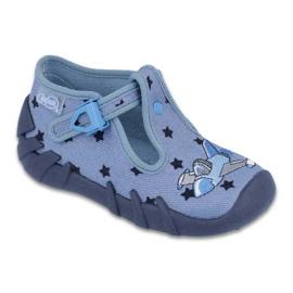 Niebieskie Befado kolorowe obuwie dziecięce 110P345