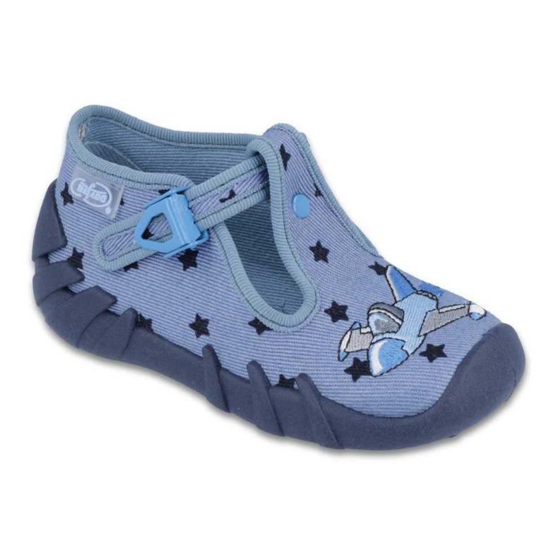 Befado kolorowe obuwie dziecięce 110P345 niebieskie