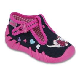 Befado obuwie dziecięce 110P336 różowe granatowe