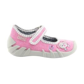 Różowe Befado obuwie dziecięce 109P180