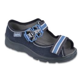 Befado obuwie dziecięce 969X127 niebieskie granatowe