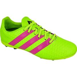 Buty piłkarskie adidas Ace 16.4 FxG Jr AF5034 zielone zielone