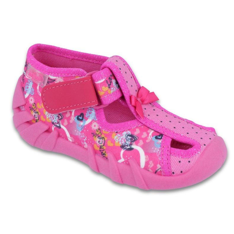 Różowe Befado obuwie dziecięce 190P088