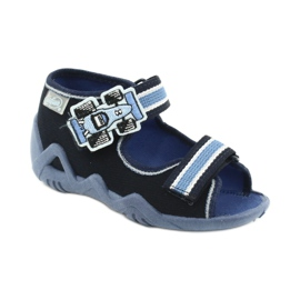 Befado kapcie sandałki buty dziecięce 250P065 granatowe