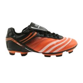 Buty piłkarskie Atletico 1216 czarny, pomarańczowy pomarańczowe
