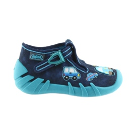 Befado kapcie obuwie dziecięce 110P342 niebieskie granatowe