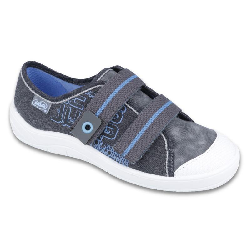 Befado obuwie dziecięce 672Y065 niebieskie szare