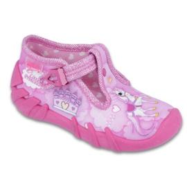 Różowe Befado obuwie dziecięce 110P350