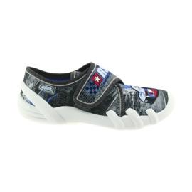 Befado buty dziecięce kapcie 273X251 czarne niebieskie szare czerwone