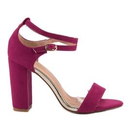 Sandały Na Słupku VINCEZA fioletowe