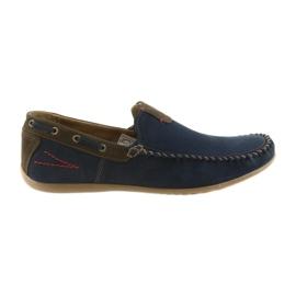 Riko mokasyny buty męskie blue 781