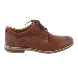 Brązowe Riko półbuty buty męskie wiązane 831