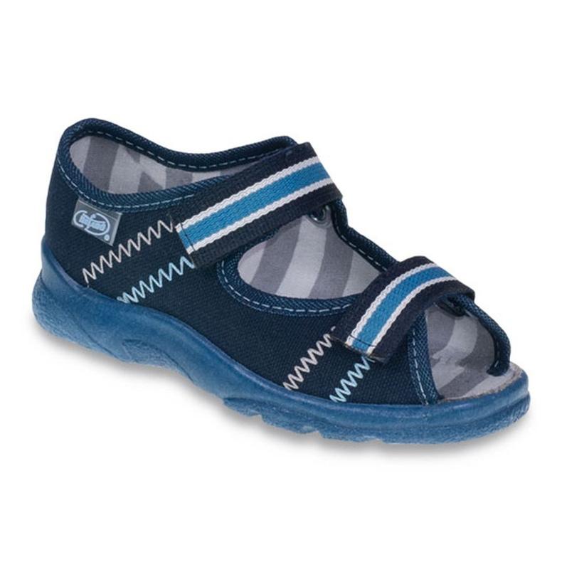 Befado obuwie dziecięce  969X101 granatowe niebieskie