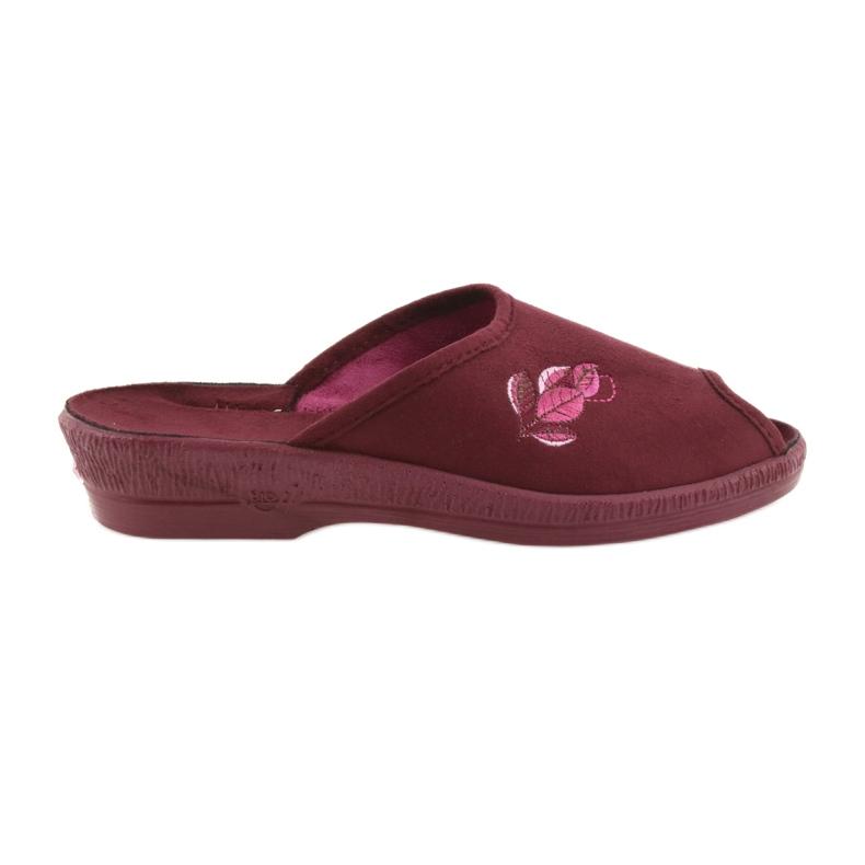 Befado obuwie damskie pu 581D193 wielokolorowe czerwone