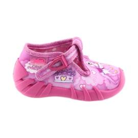 Befado buty dziecięce kapcie 110P350 różowe