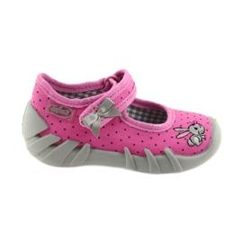 Befado buty dziecięce kapcie balerinki 109P169 czarne szare różowe