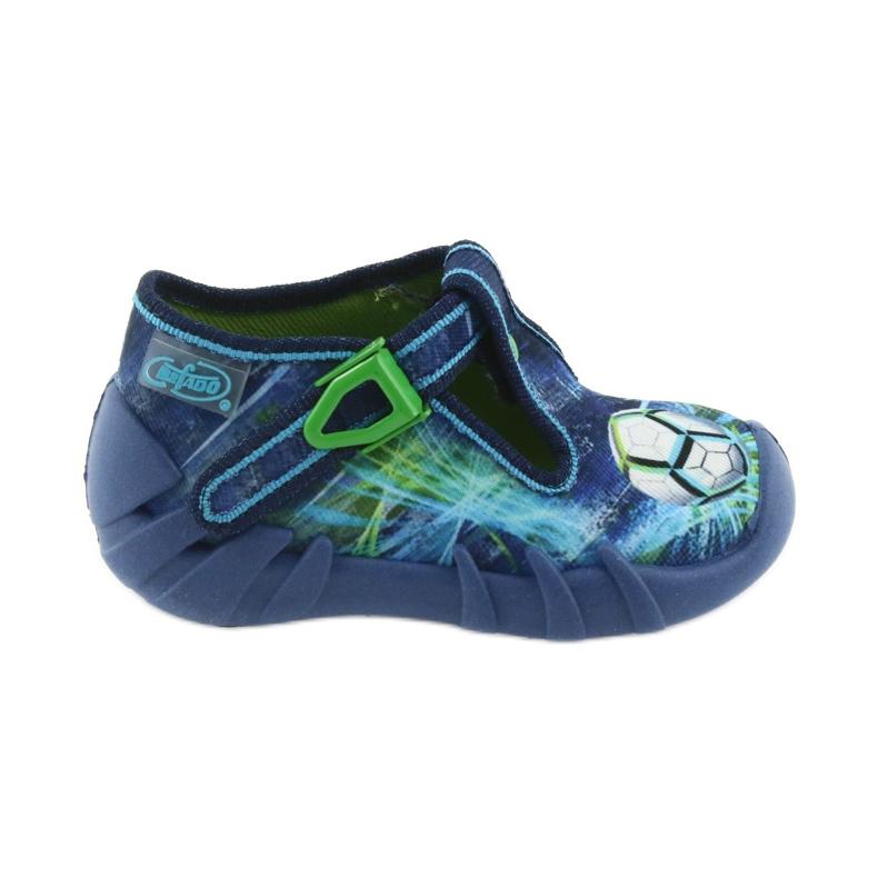 Befado buty dziecięce kapcie 110P339 niebieskie zielone granatowe