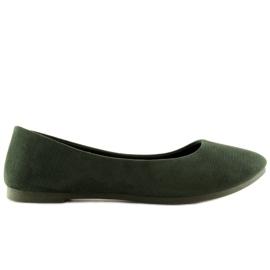 Baleriny damskie zielone JX1018 Green