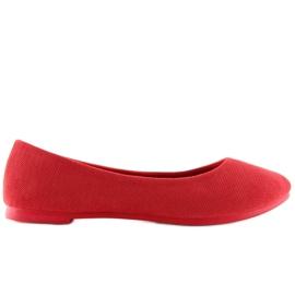Baleriny damskie czerwone JX1018 Red