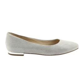 Szare Caprice balerinki buty damskie 22104