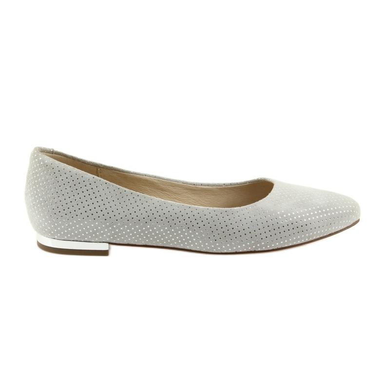 Caprice balerinki buty damskie 22104 szare