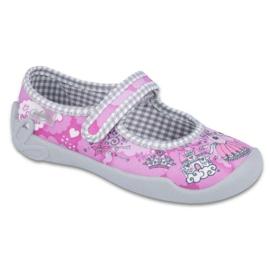 Befado obuwie dziecięce 114X333 różowe