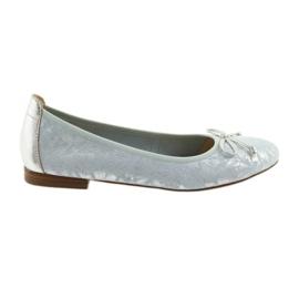Caprice balerinki buty damskie 22102 niebieskie szare