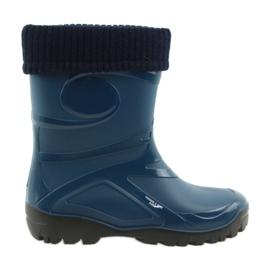 Granatowe Demar kalosze buty damskie ciepła skarpeta