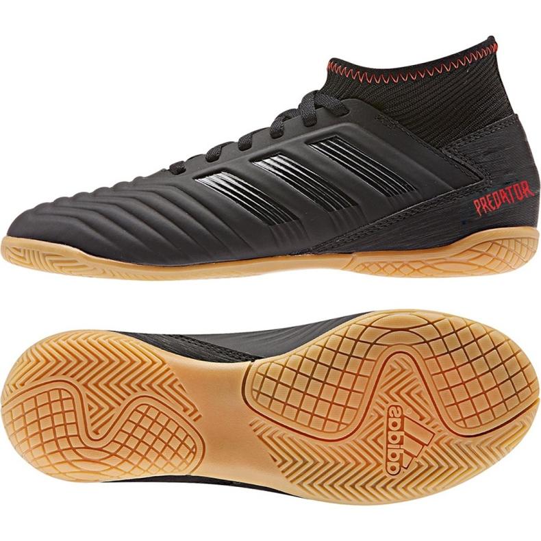 Buty halowe adidas Predator 19.3 In Jr D98015 czarne wielokolorowe