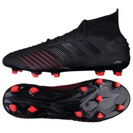 Buty piłkarskie adidas Predator 19.1 Fg M BC0551 czarne czarny