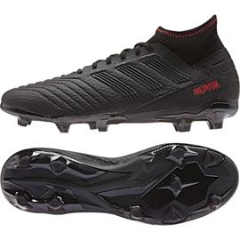Buty piłkarskie adidas Predator 19.3 Fg M D97942 czarne wielokolorowe