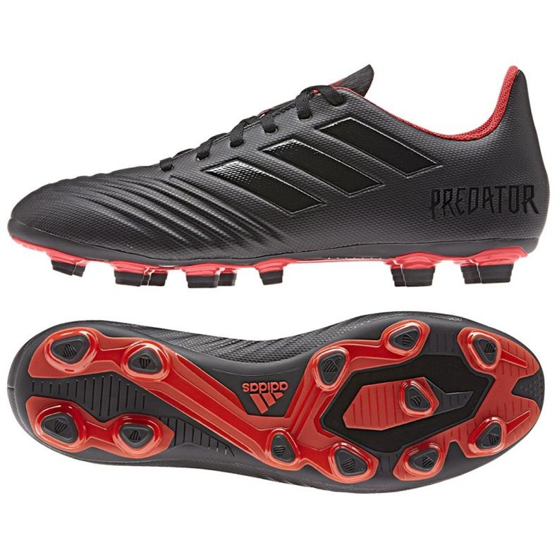 Buty piłkarskie adidas Predator 19.4 FxG M D97960 czarne wielokolorowe