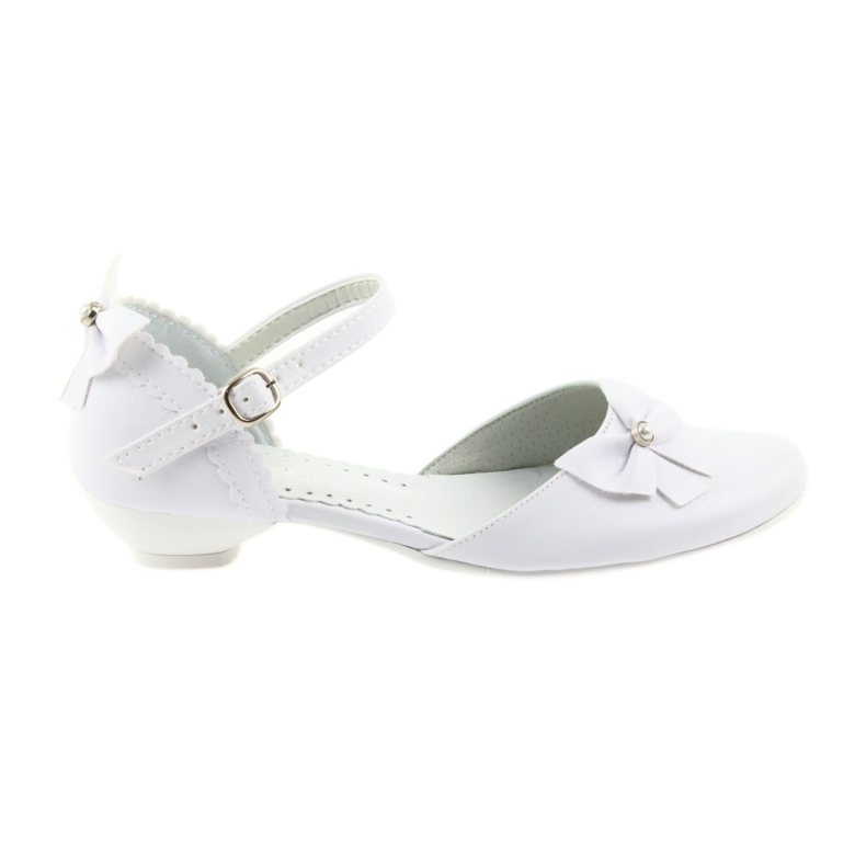 Miko czółenka dziecięce balerinki komunijne białe