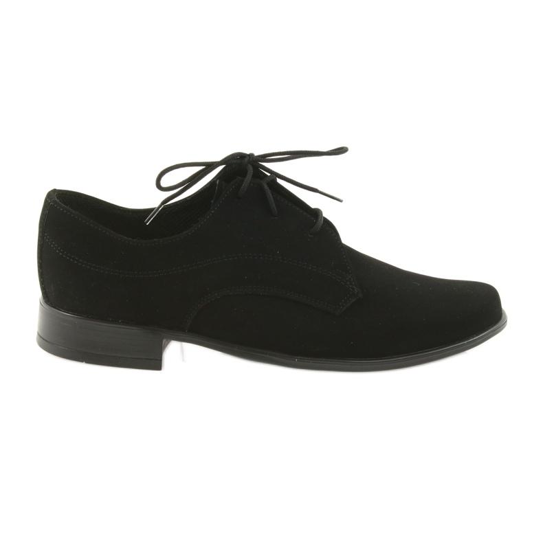 Miko półbuty dziecięce zamszowe buty komunijne czarne