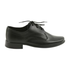 Czarne Miko półbuty dziecięce buty chłopięce komunijne