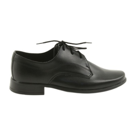 Miko półbuty dziecięce buty chłopięce komunijne czarne