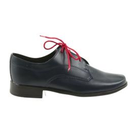 Granatowe Miko półbuty dziecięce buty komunijne