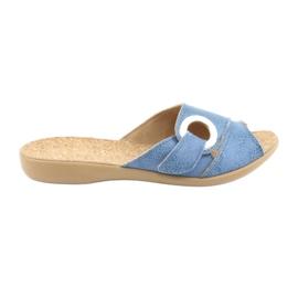 Befado obuwie damskie pu 265D015 niebieskie